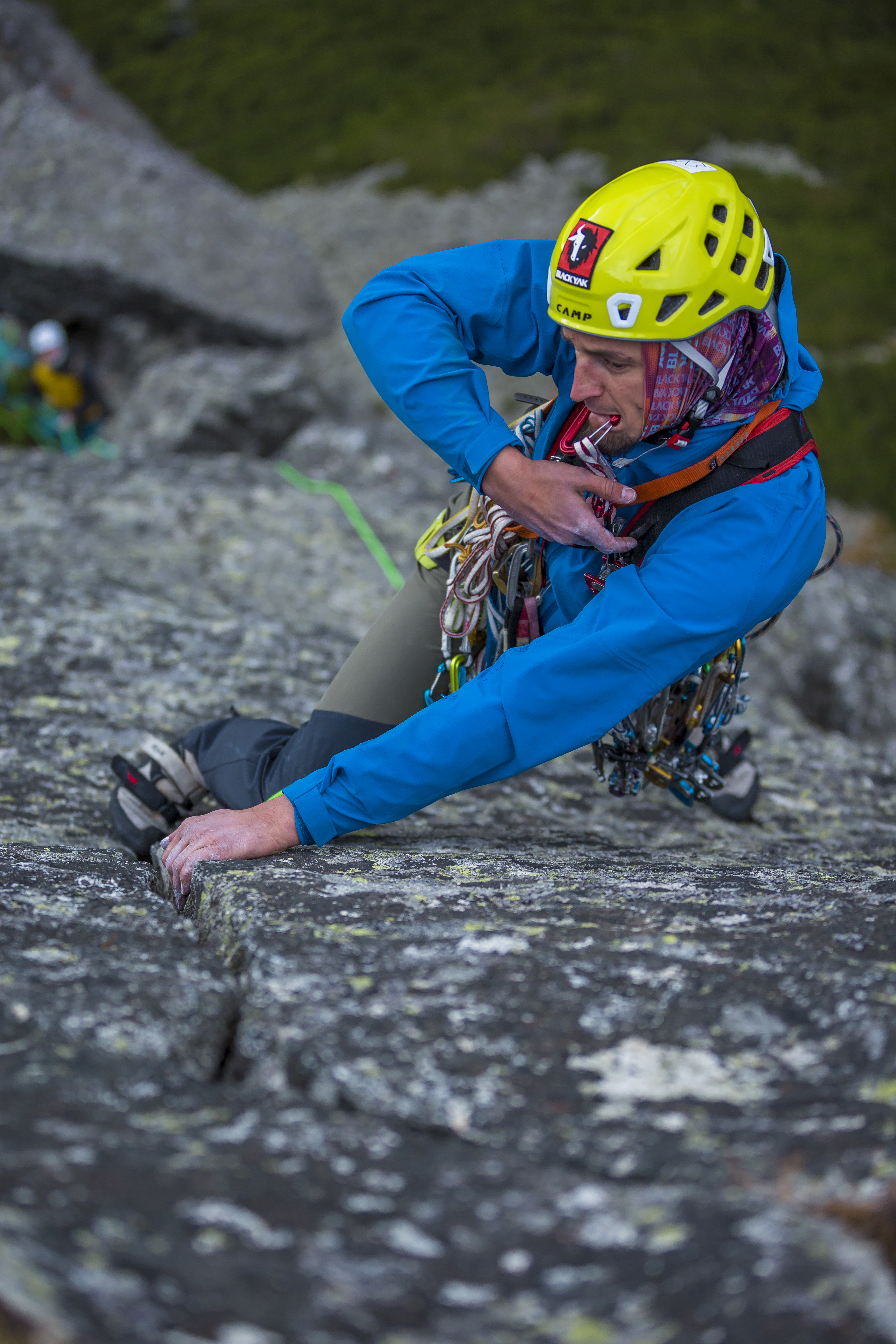 Bielecki on a classic climbing route in the Tatras