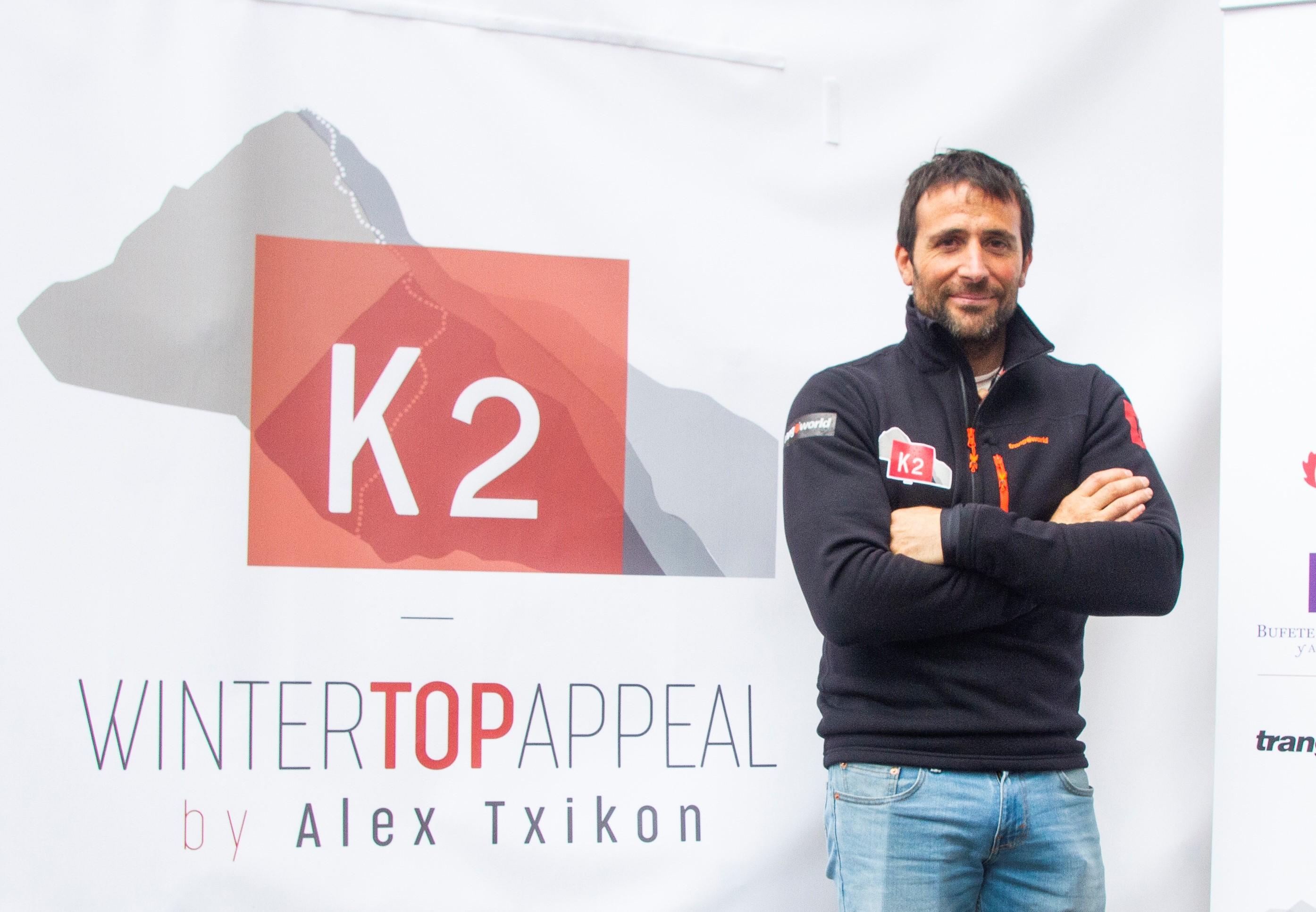 Alex Txikon during presentation of K2 Winter expedition 2019