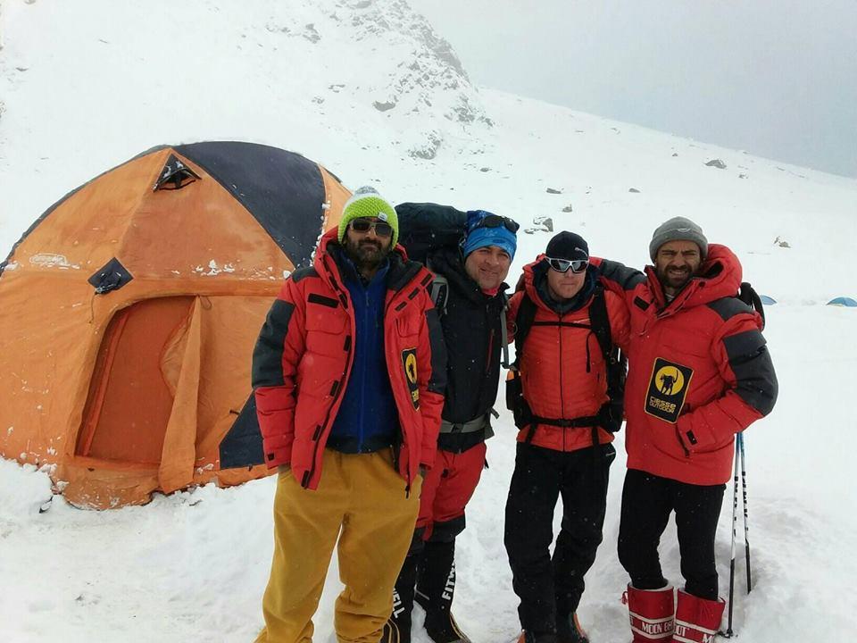 From the right: Daniele Nardi Tom Ballard and BC crew on winter Nanga Parbat