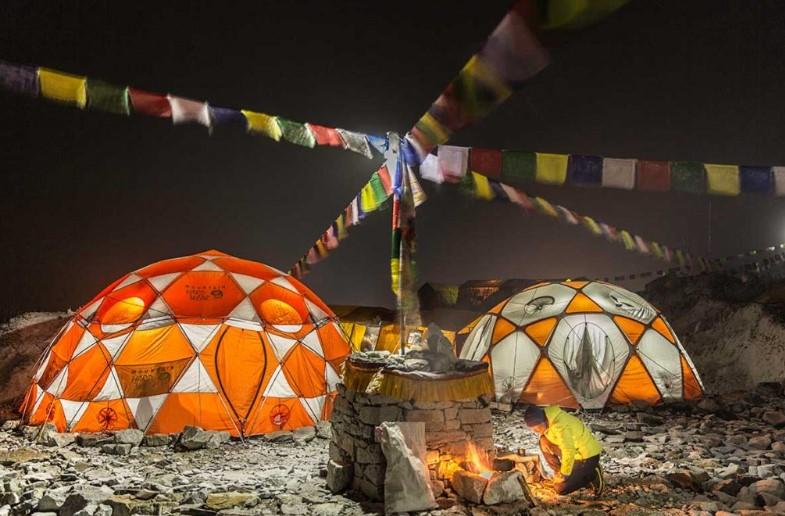 Everest base Camp with Puya shrine