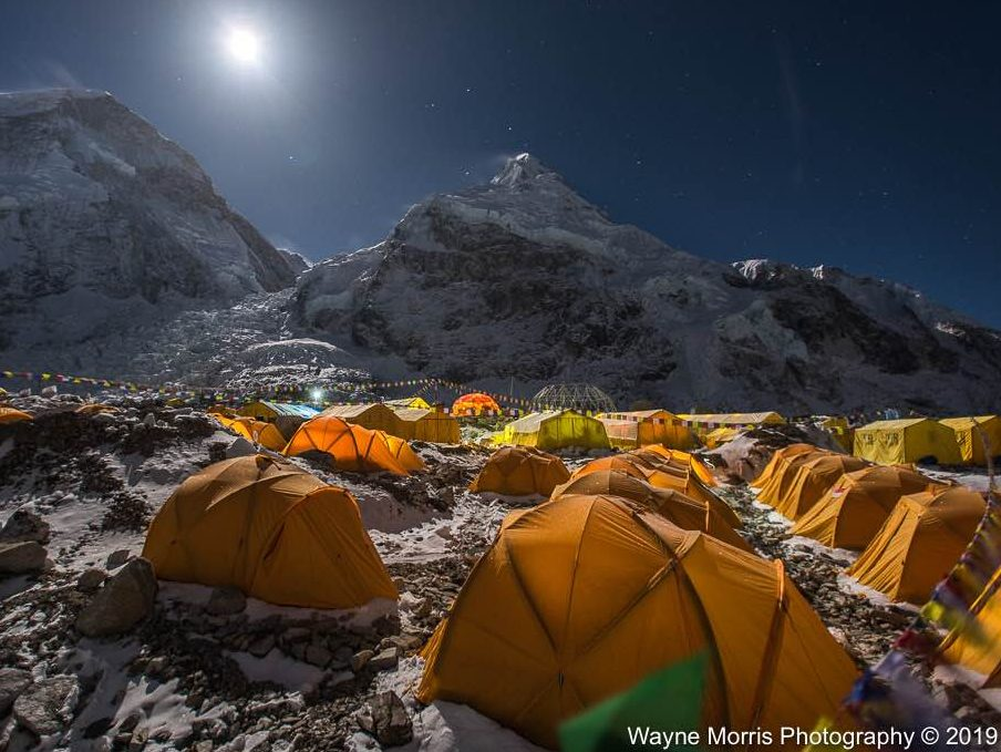 Everest base Camp. Climbing the Seven Summits