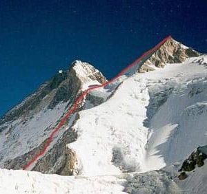 New route planned by Denis Urubko on Gasherbrum II. Photo: Urubko's Facebook