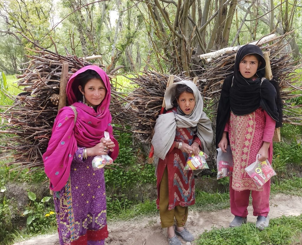 Local communities in isolated mountain areas are specially vulnerable to a potential COVID-19 outbreaks. Photo of Balti girls: Alpine Adventure Guides Pakistan