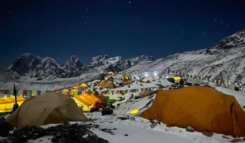 Everest Base Camp at night