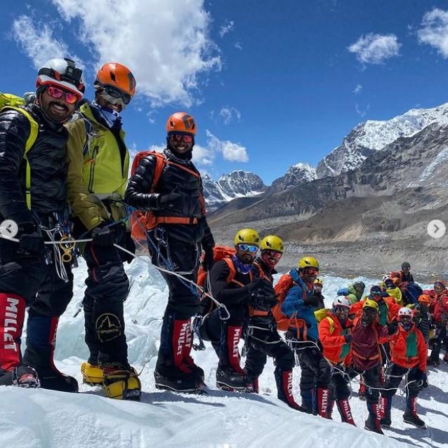Bahraini Sheikh's mountaineering team
