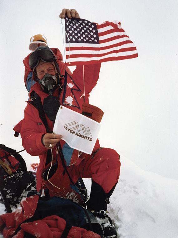 First Seven Summiter atop Everest