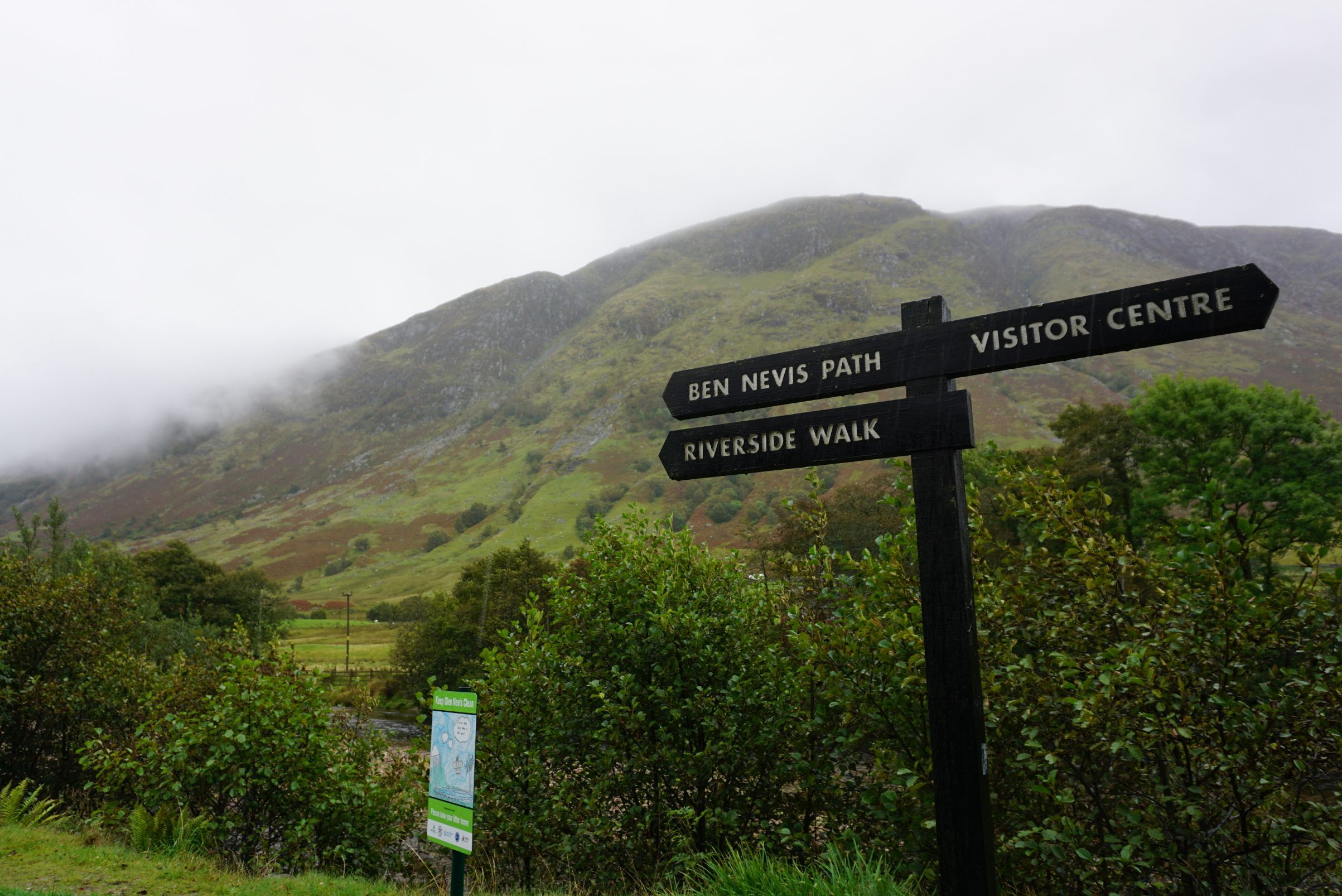Signage from Steall Falls