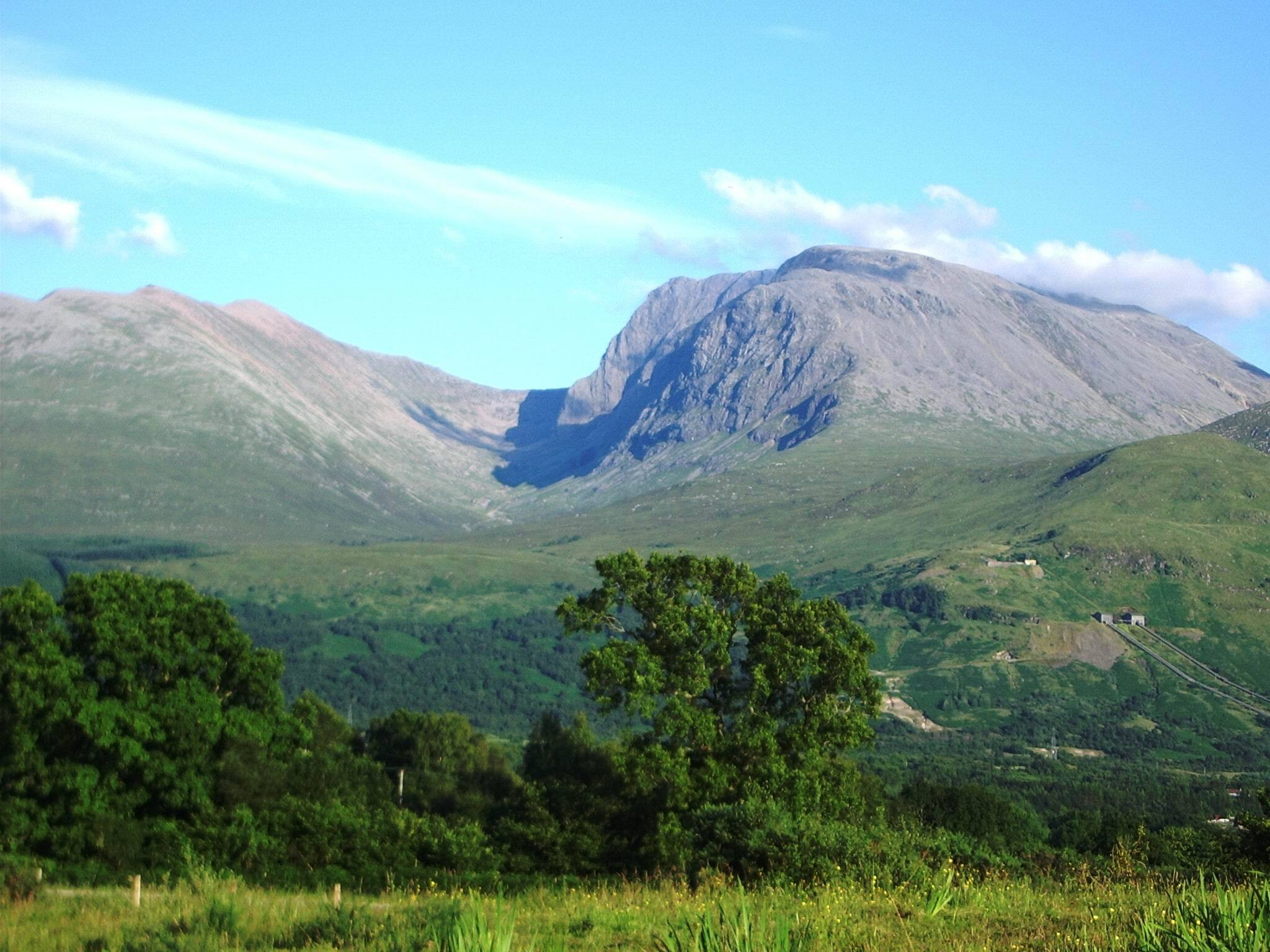 At just over 1,300 meters, Ben Nevis is the United Kingdom's tallest peak.