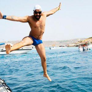 Neil Agius Breaks Longest Non-stop Ocean Swim Record