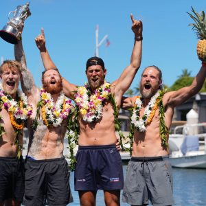 Record Time in Great Pacific Race