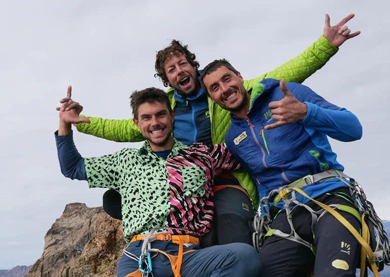 The italian/french/swiss team that freed Forum iin Greenland