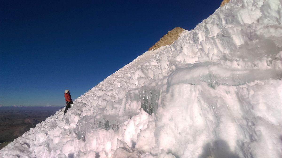 Nevado Sullcon summit peruvian andes penitentes
