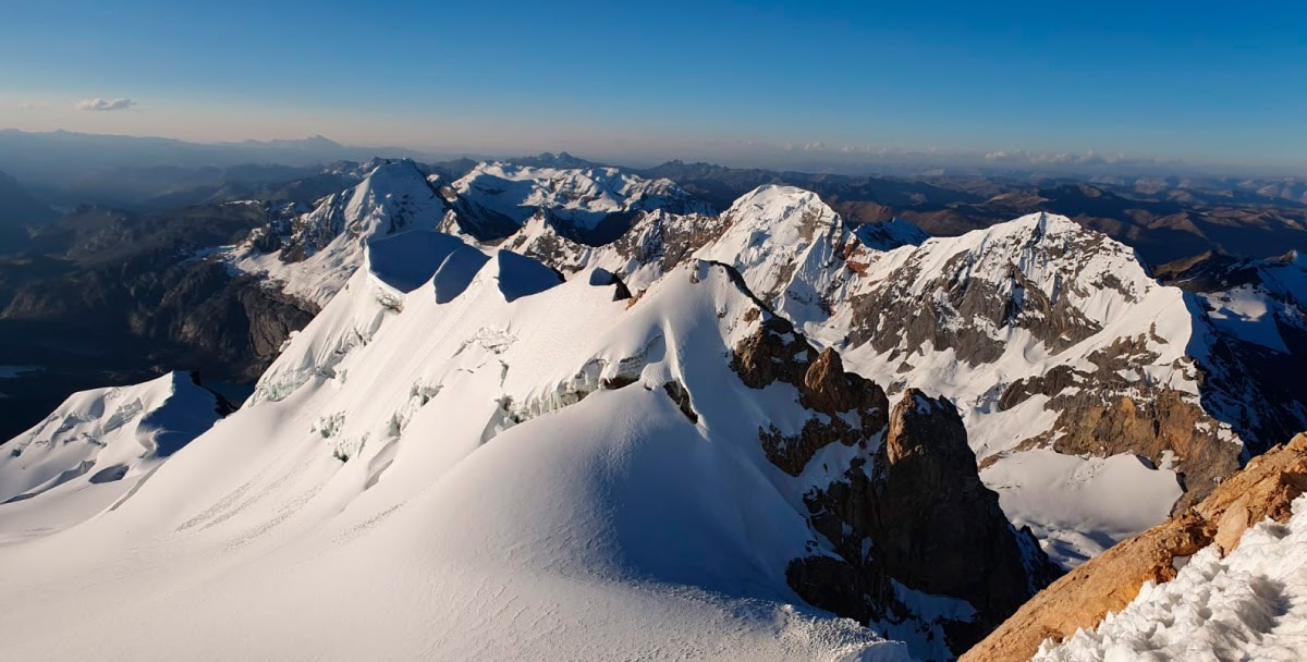 cordillera central nevado sullcon summit view