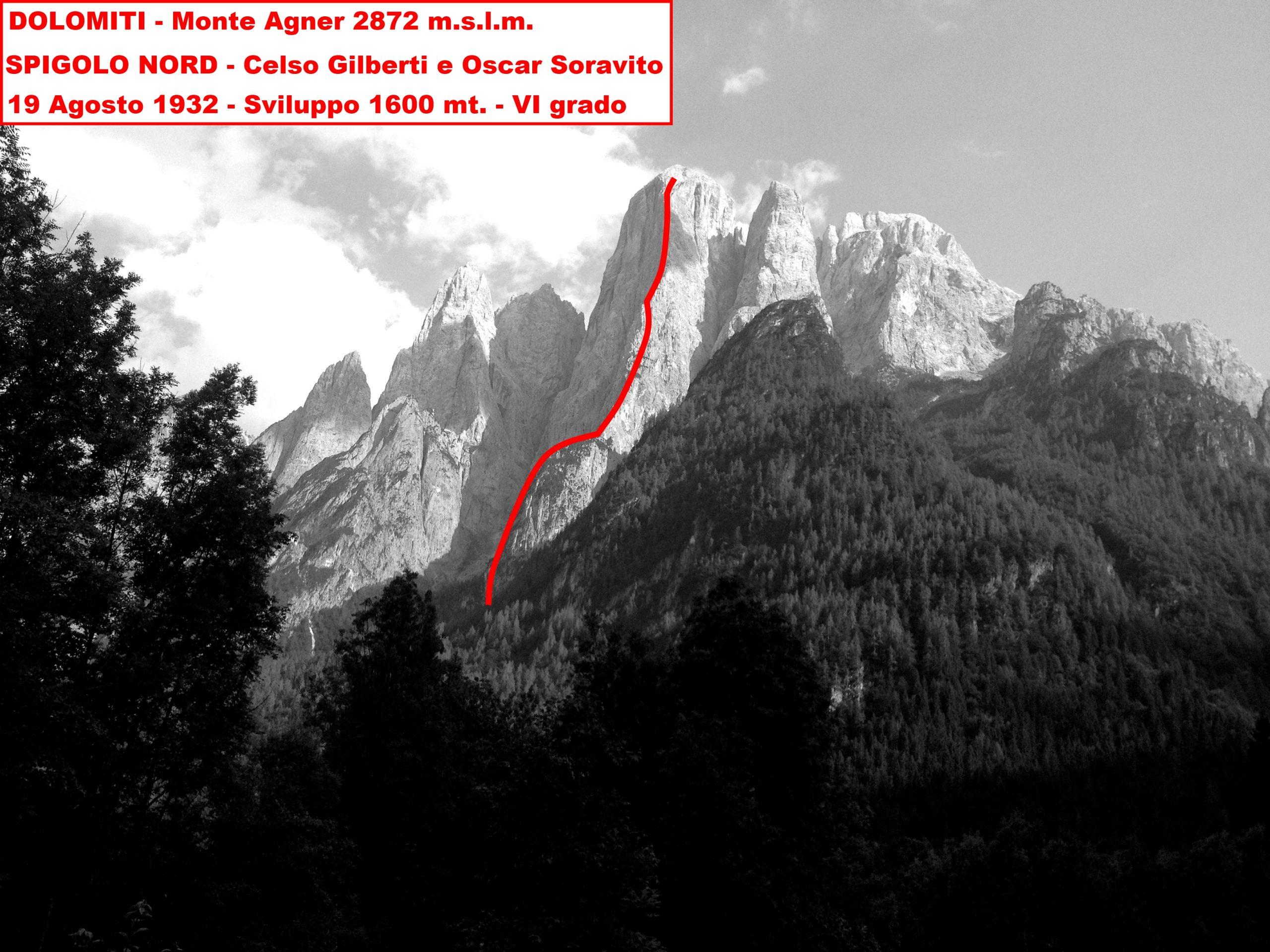 Spigolo Nord of Mount agner