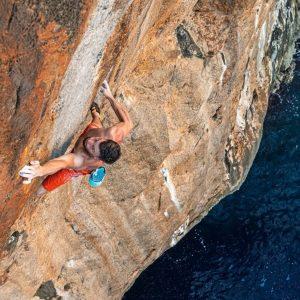 Kruder Sends Sharma's Mallorca Deep Water Solo Test Piece Days After Schubert