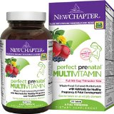 New chapter perfect prenatal vitamins fermented with probiotics folate iron vitamin d3 b vitamins organic non gmo ingredients