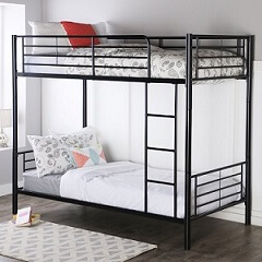 Walker edison twin over twin metal bed