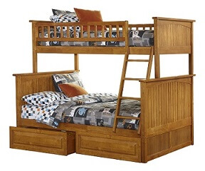 Nantucket bunk bed twin with raised panel