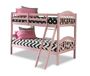 Storkcraft long horn solid hardwood bed pink