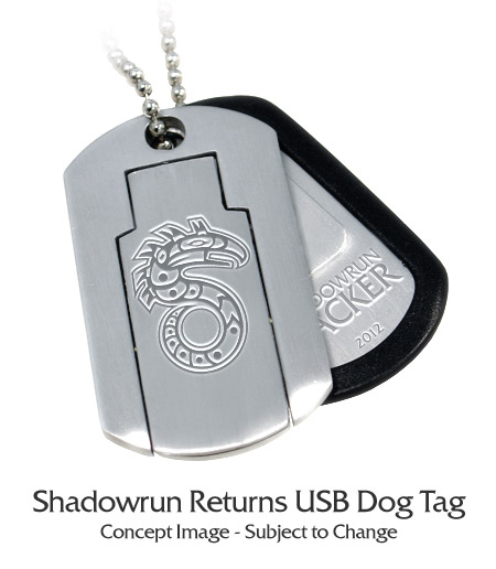 Shadowrun Returns USB Dog Tag