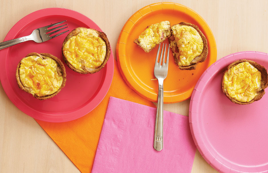 Ham-and-Cheese Muffins