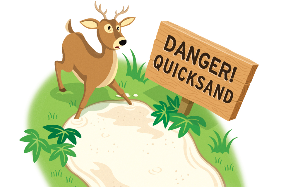 Why does quicksand make you sink?