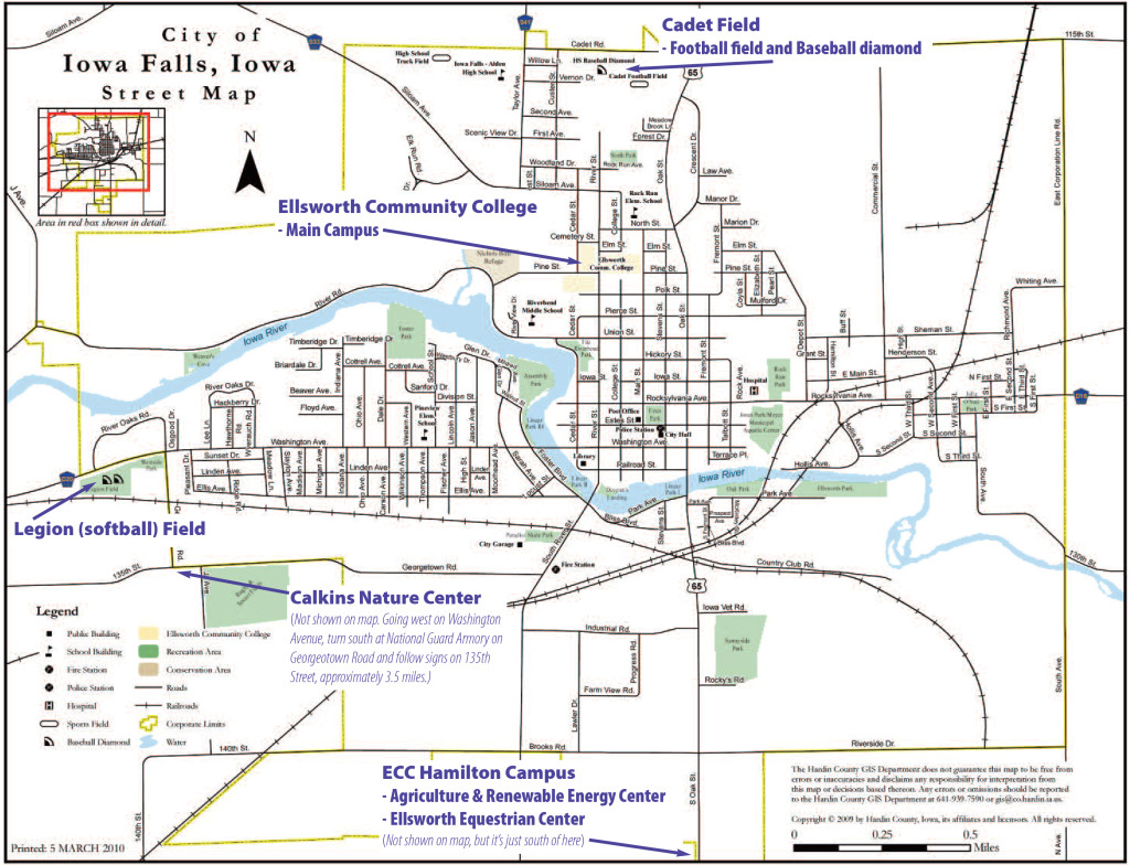 Maps Directions Ellsworth Community College - Road map of iowa
