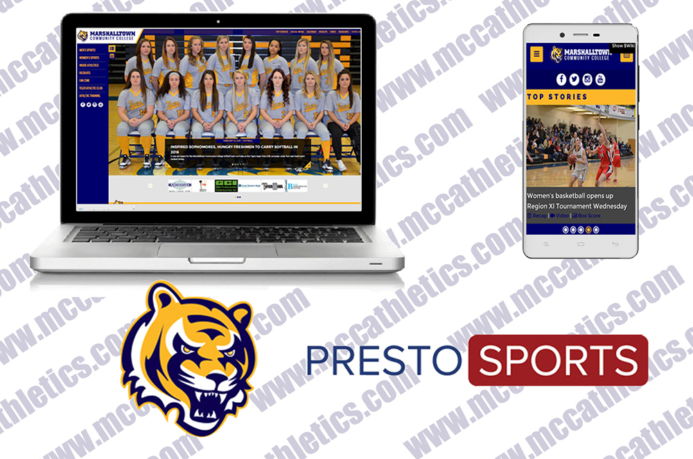 The MCC Athletic Department website received a major upgrade thanks to Presto Sports.