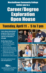 Career-Degree Exploration Open House Poster