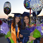 Two MCC students were showered with flowers and balloons.