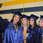 A quick selfie before graduation starts.
