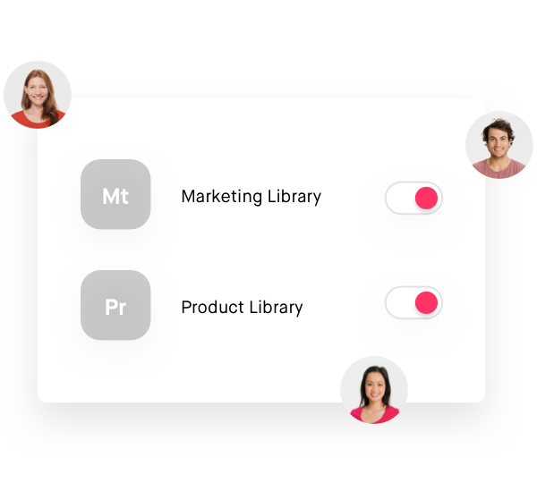 Shared design libraries visual