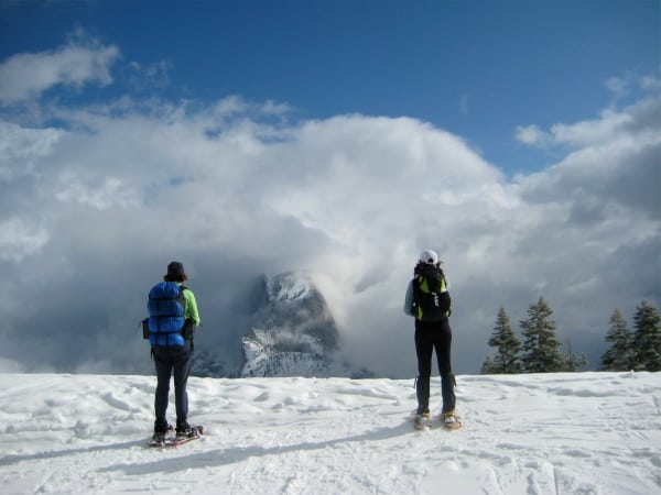 Half Dome from Glacier Point winter
