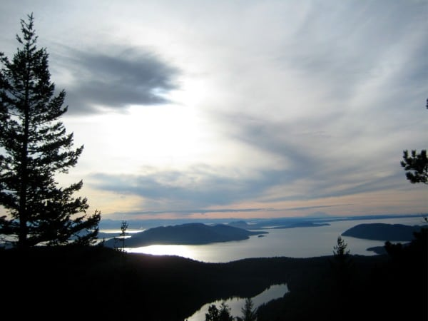 View from Mount Constitution Orcas Island