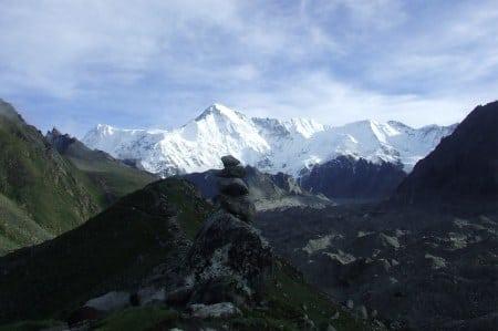 Nepal rock cairn mountain