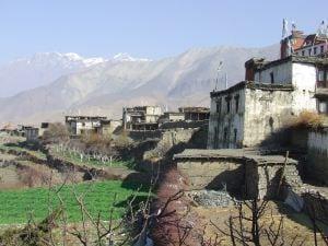 Nepal town mountain