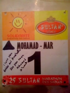Mohamad Ahansal Marathon des Sables race number