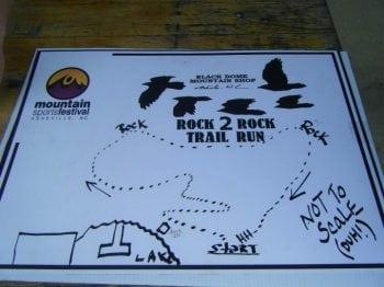 Rock2Rock Trail Run Course Map