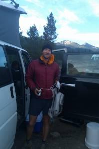 Matt Hart morning Colorado Trail