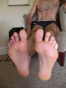 Jose Suarez's post race feet