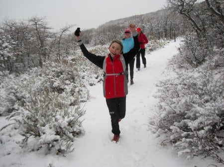 Park City winter trail running