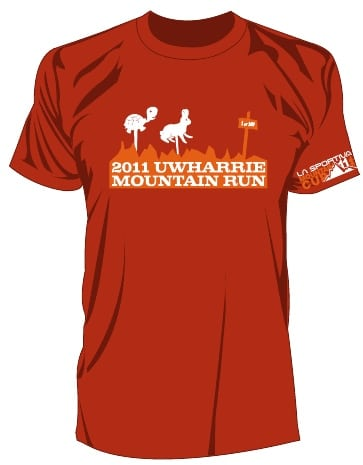 La Sportiva Mountain Cup Uwharrie Mountain Run tee shirt