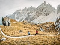 Running in the Italian Dolomites