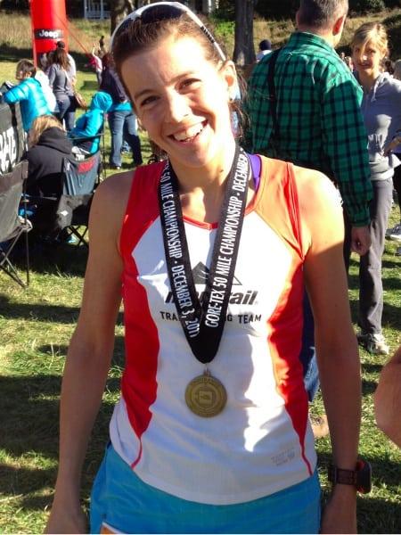Ellie Greenwood 2011 TNF 50 finish