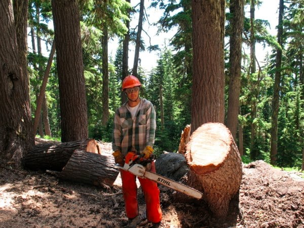 Craig Thornley trail work