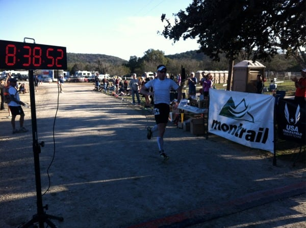 Joe Uhan 2012 Bandera 100k finish