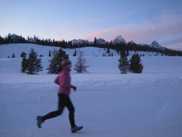 Tetons winter running