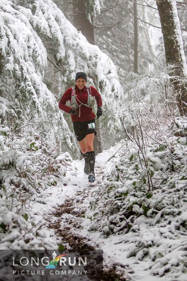 Ellie Greenwood 2012 Chuckanut 50k - Chuckanut Ridge Trail