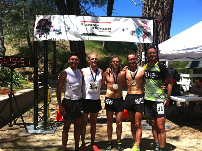 2012 Leona Divide 50 mile Jorge Maravilla Jason Wolfe Timothy Olson Jason Schlarb Dylan Bowman