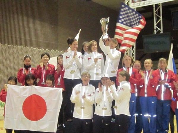 Victorious American Women's Team 2012 IAU 100k World Championships